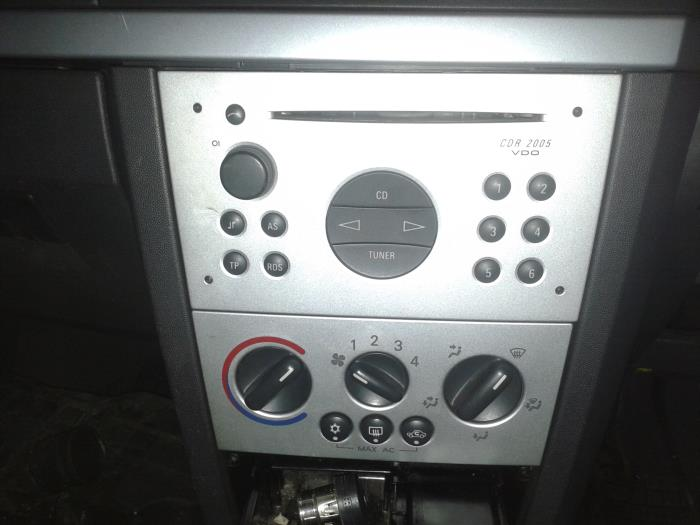 used opel meriva 1 6 air conditioning control panel. Black Bedroom Furniture Sets. Home Design Ideas