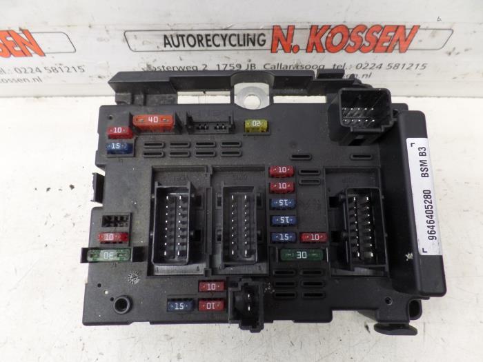 used citroen xsara break 1 6i 16v fuse box 9646405280 Kia Fuse Box 1
