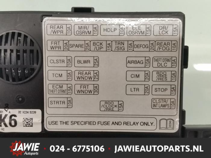 fuse box from a chevrolet spark (used)