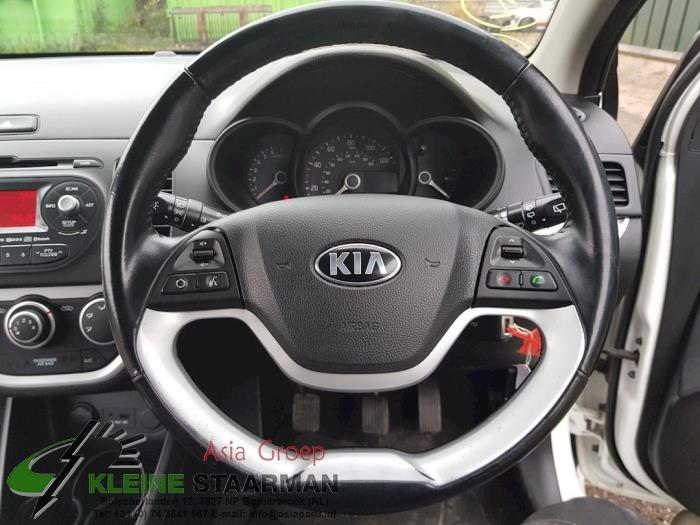 Left airbag (steering wheel) from a Kia Picanto (TA) 1.0 12V 2014