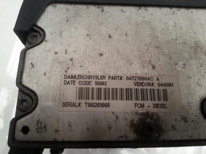 fuse box from a chrysler grand voyager (used)