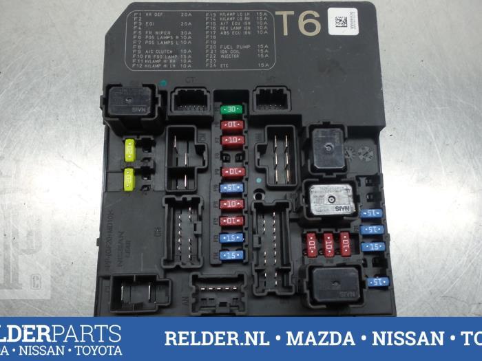 used nissan juke (f15) 1 5 dci fuse box 284b71kk0b relder parts nissan juke fuse box uk at Nissan Juke Fuse Box