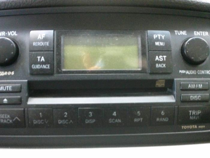 used toyota corolla e12 1 6 16v vvt i radio cd player. Black Bedroom Furniture Sets. Home Design Ideas