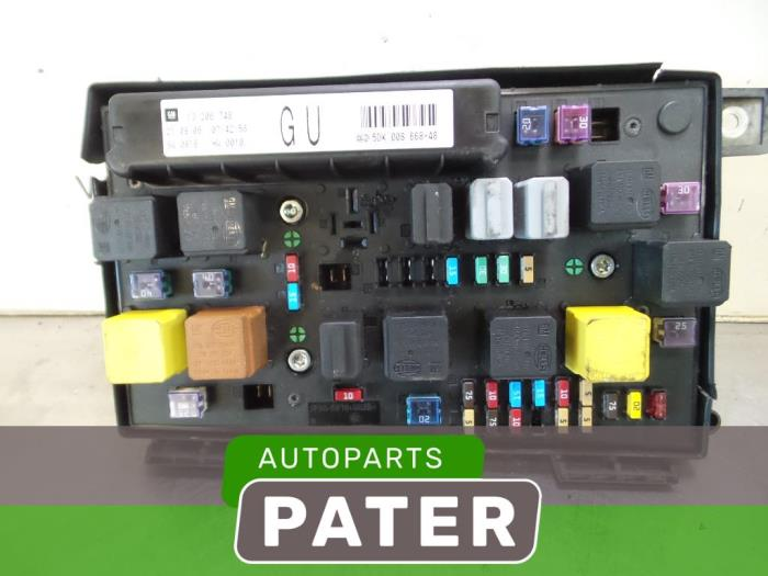 Used Opel Astra H SW (L35) 1.9 CDTi 100 Fuse box ... Vauxhall Astra Fuse Box Numbers on