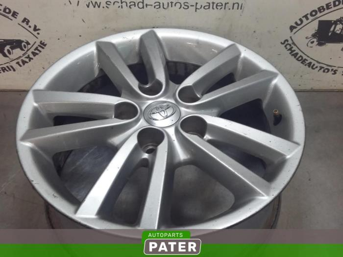 Used Toyota Auris Wheel 42611yy250 Alloy Autoparts Pater