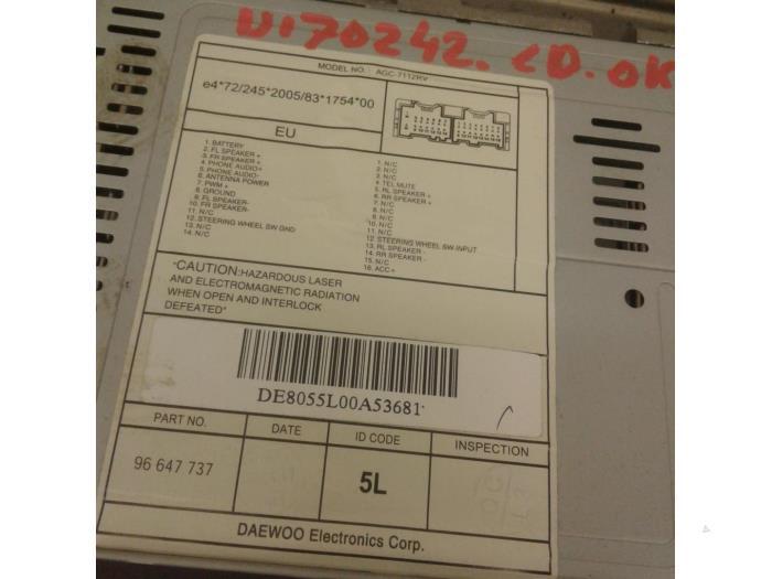 Used Chevrolet Aveo 250 12 16v Radio Cd Player Agc7112rv