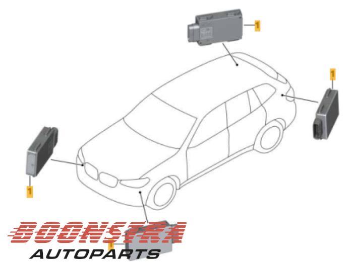 Blind spot sensor from a BMW X3 (G01) xDrive 30d 3.0 TwinPower Turbo 24V Van 2017