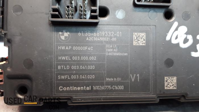 fuse box from a bmw 1 serie (f20) 118i 1 5 twinpower 12v 2016