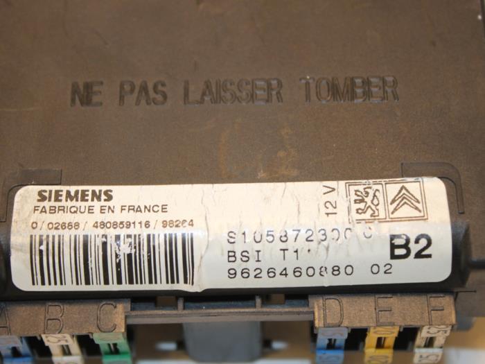 Used Peugeot 206 2A C H J S 1 6 XS XT Fuse Box