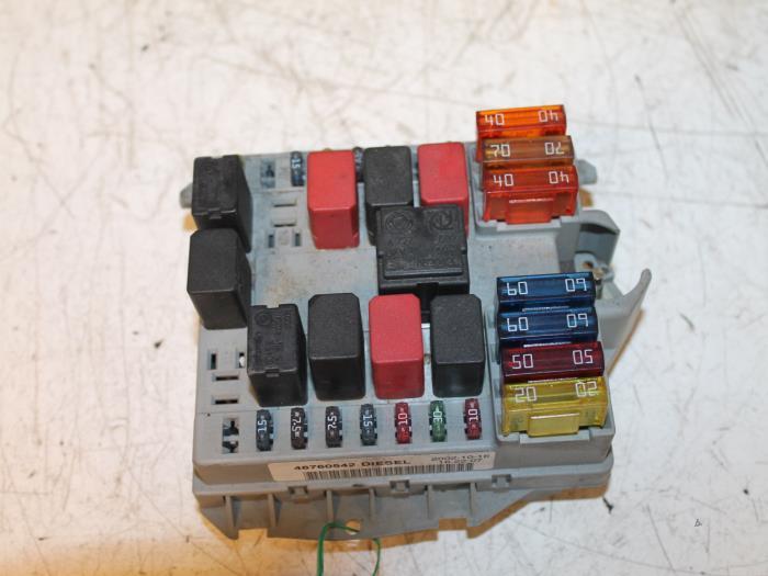 fuse box from a fiat doblo (223a/119) 1 9 jtd 2003