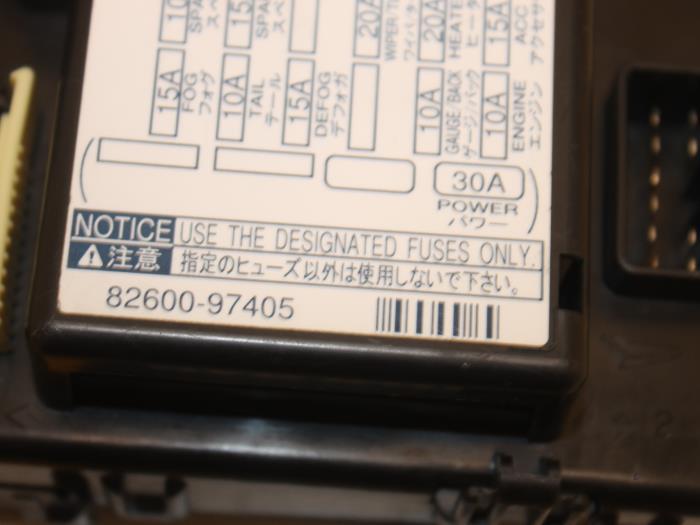 daihatsu yrv fuse box location used daihatsu yrv  m2  1 3 16v dvvt fuse box 8260097405 van  daihatsu yrv  m2  1 3 16v dvvt fuse box