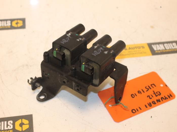 Used Hyundai i10 (F5) 1 1i 12V Ignition coil - G4HG5 - van Gils
