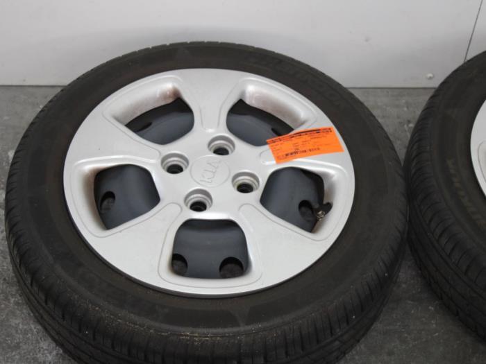 Used Kia Picanto Ta 10 12v Set Of Wheels 529101y100