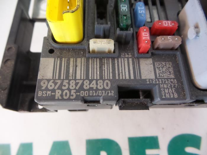 used citroen berlingo 1.6 hdi 75 fuse box - 9675878480 ... citroen berlingo van fuse box layout citroen berlingo 1999 fuse box