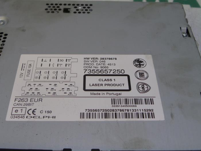 Usagé Fiat Doblo Cargo (263) 1.6 D Multijet Radio/Lecteur CD ...