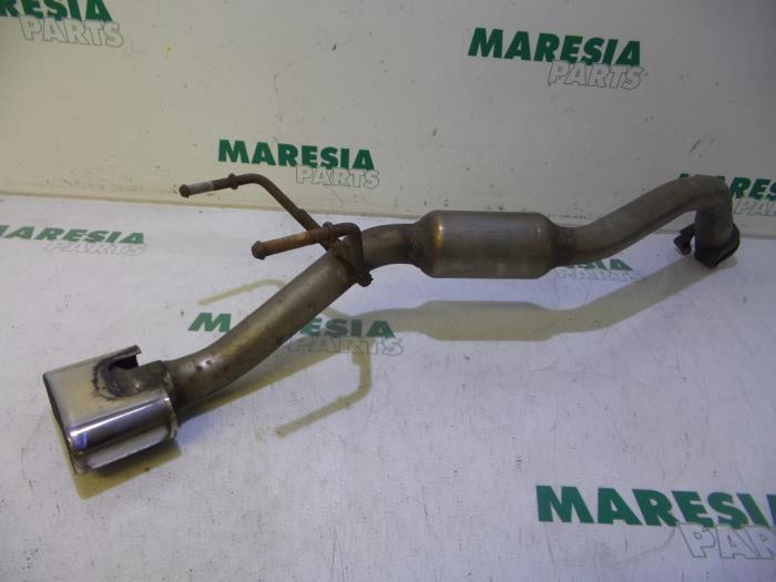 Exhaust rear silencer from a Fiat 500 0.9 TwinAir 80 2014