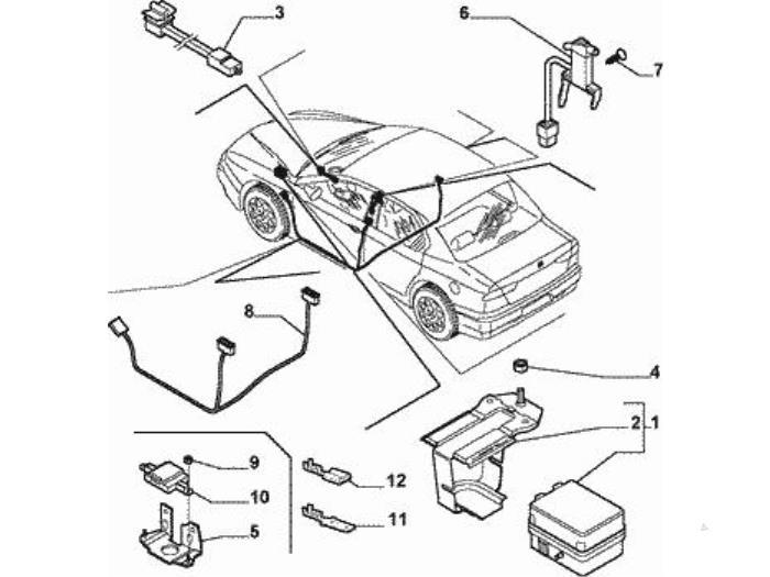 Used Alfa Romeo 156 932 2 0 Jts 16v Complete Alarm System