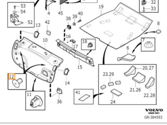 gebrauchte volvo s60 verkleidung heckklappe 30721160 auto demontage elferink b v. Black Bedroom Furniture Sets. Home Design Ideas