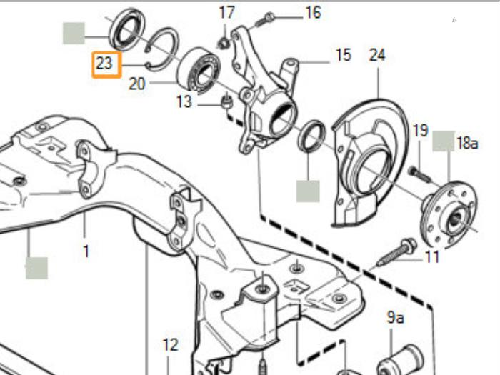 Front Wheel Bearing From A Volvo S40v40 2001: Engine Diagram For Volvo S40i At Hrqsolutions.co