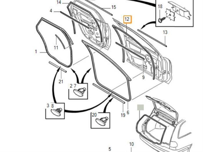 Front Door Seal 4door Right From A Volvo S40v40 2003: Engine Diagram For Volvo S40i At Hrqsolutions.co