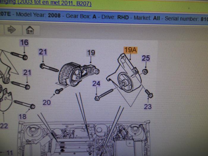 Engine Mount From A Saab 93 Sport Estate Ys3f 20t 16v: Saab Engine Mounts Diagram At Outingpk.com