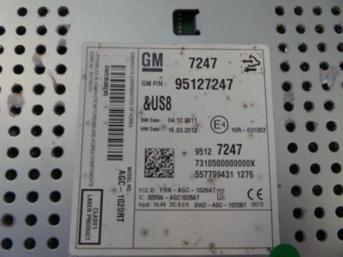 Used Chevrolet Aveo 12 16v Radio Cd Player 95127247 Autobedrijf
