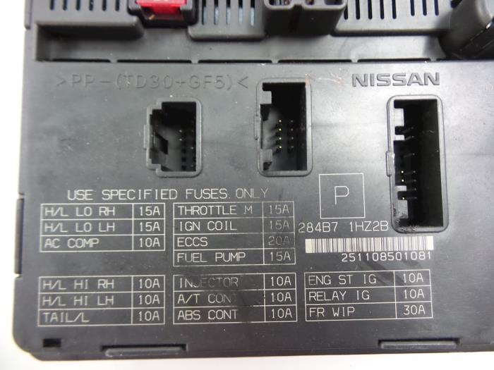 fuse box from a nissan / datsun micra (k13) 1 2 12v dig-s