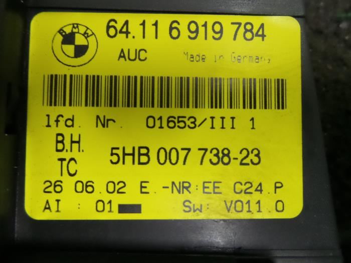 Used BMW 3-Serie Air conditioning control panel