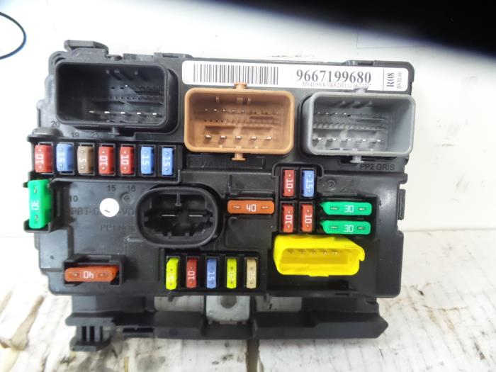 citroen c3 fuse box problems used citroen c3 (sc) 1.6 hdi 92 fuse box - 9667199680 - de ... citroen c3 fuse box 2006
