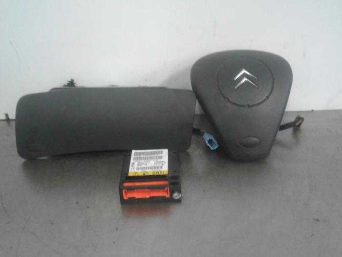 gebrauchte citroen c3 fc fl ft 1 1 airbag set modul 96380009ud autoham auto onderdelen. Black Bedroom Furniture Sets. Home Design Ideas