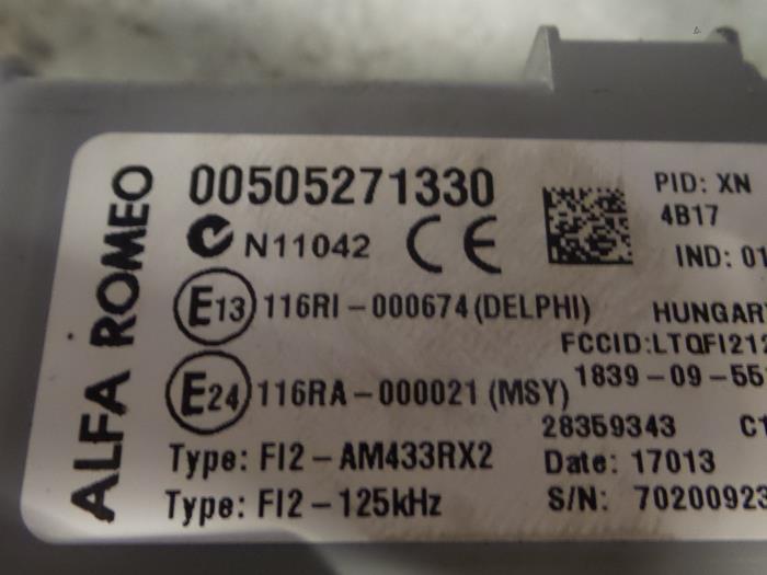 fuse box from a alfa romeo mito (955) 1 4 turbo multi air 16v 2012