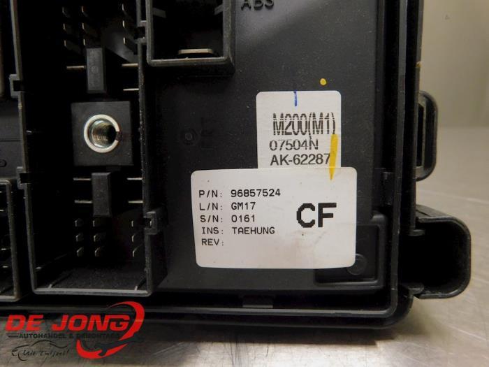 Used Chevrolet Matiz  Spark 0 8 S Se Fuse Box