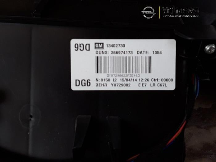 Boîtier chauffage d'un Opel Astra J (PC6/PD6/PE6/PF6) 1.4 Turbo 16V 2014