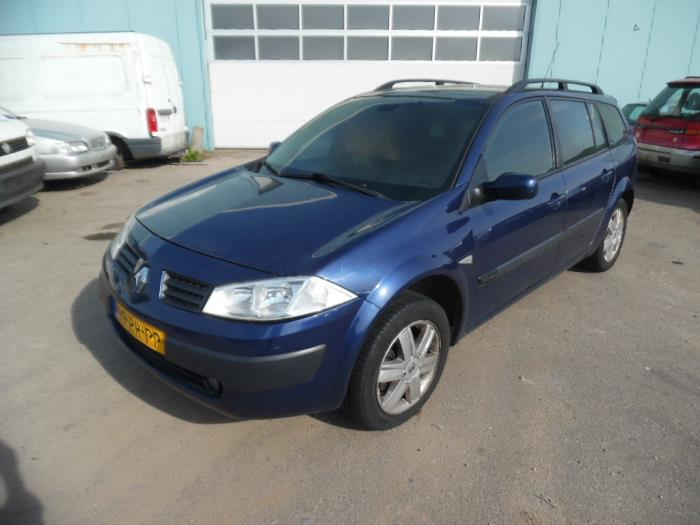 Renault Megane Ii Grandtour  Km  1 6 16v  Salvage  Year Of Construction 2005  Colour Blue