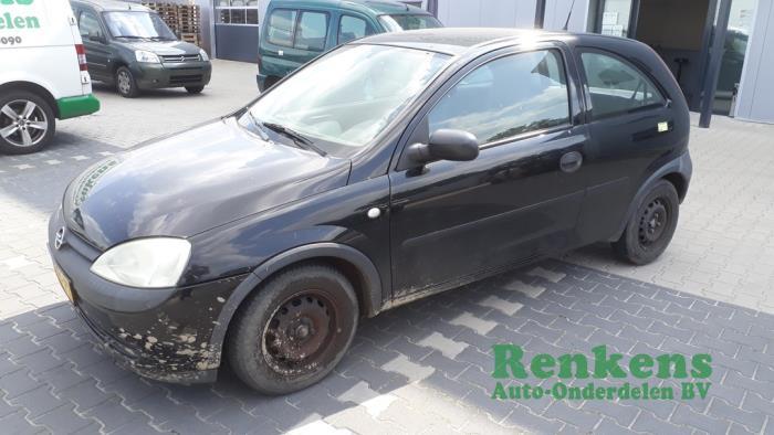 Opel Corsa C 1.2 16V Salvage vehicle (2001, Black)