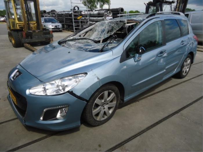 Peugeot 308 Sw  4e  H  1 6 Hdi 16v Fap  Salvage  Year Of Construction 2012  Colour Blue